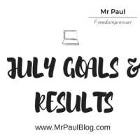 July goals and results